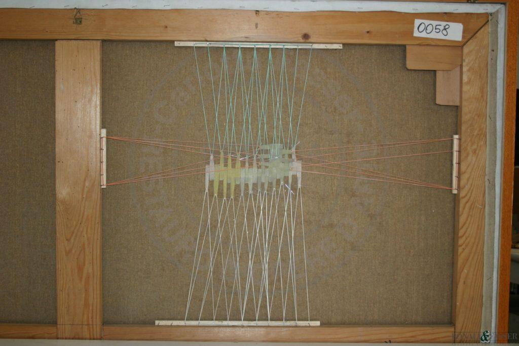 Dettaglio del supporto durante l'intervento di sutura della lacerazione