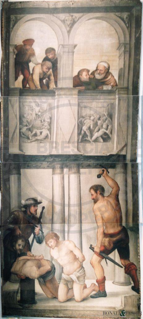L'anta d'organo prima del restauro