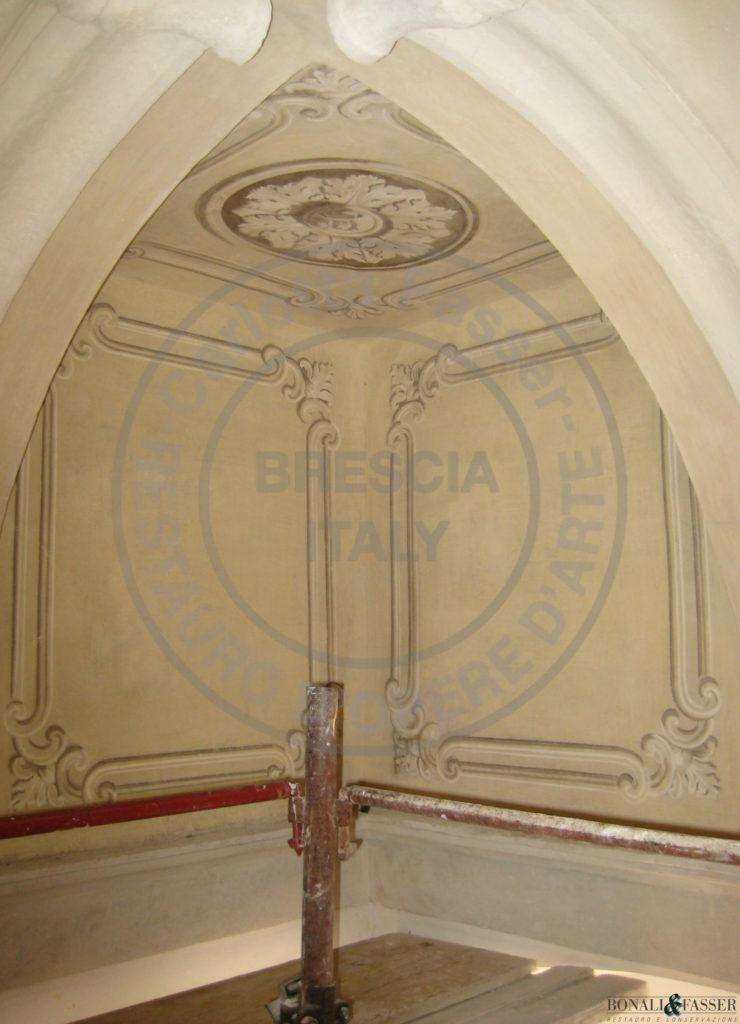 Il Savoldo, sala da pranzo, dettaglio dopo il restauro