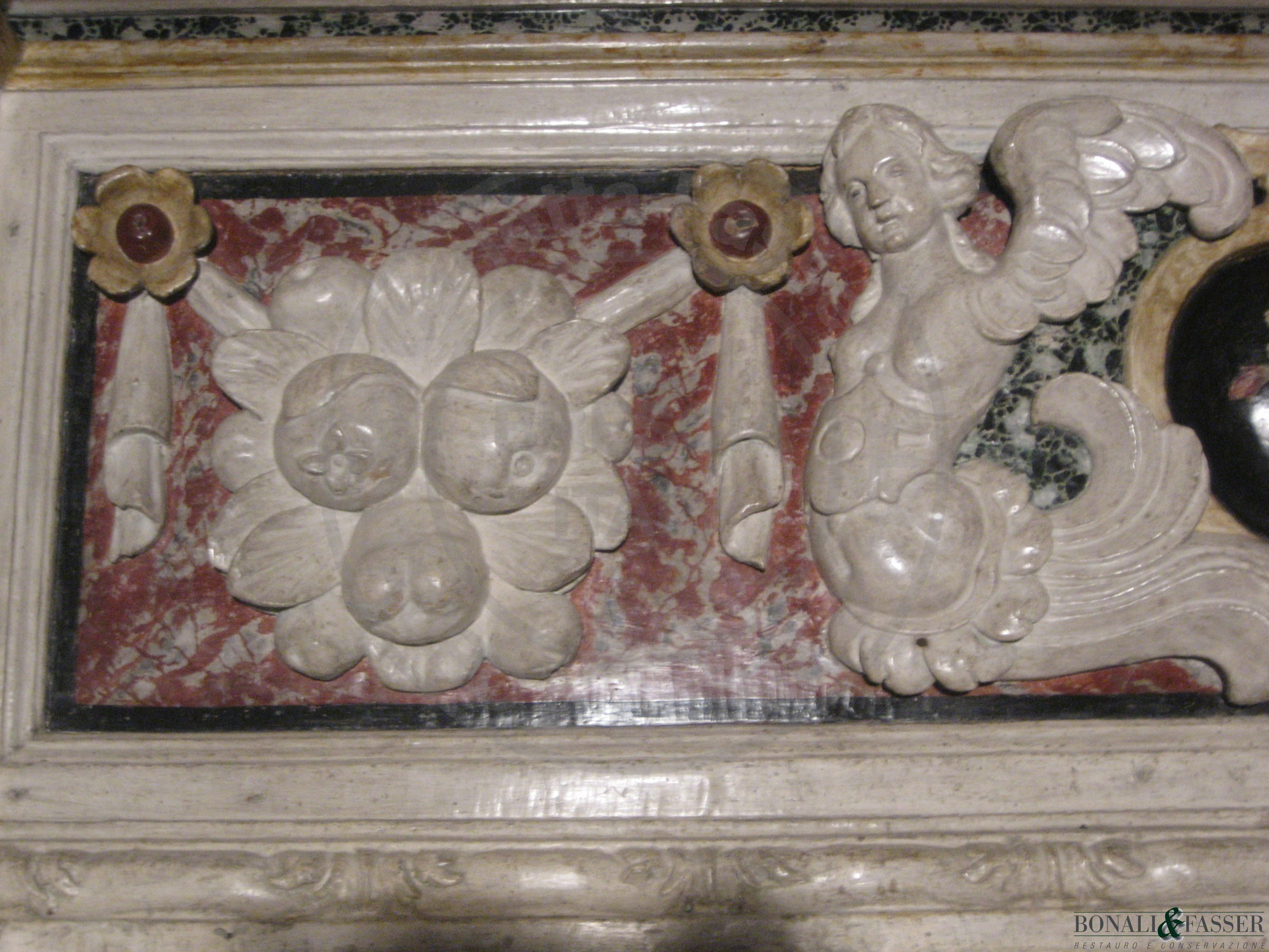 Dettaglio dopo il restauro