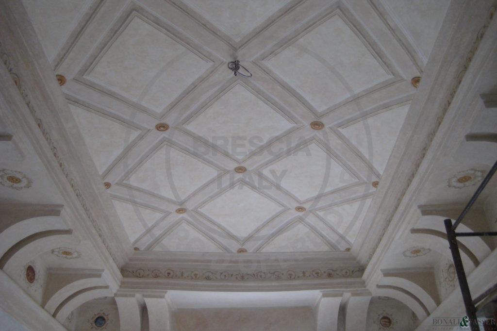 Palazzo Savoldo, salone intervento di decorazione