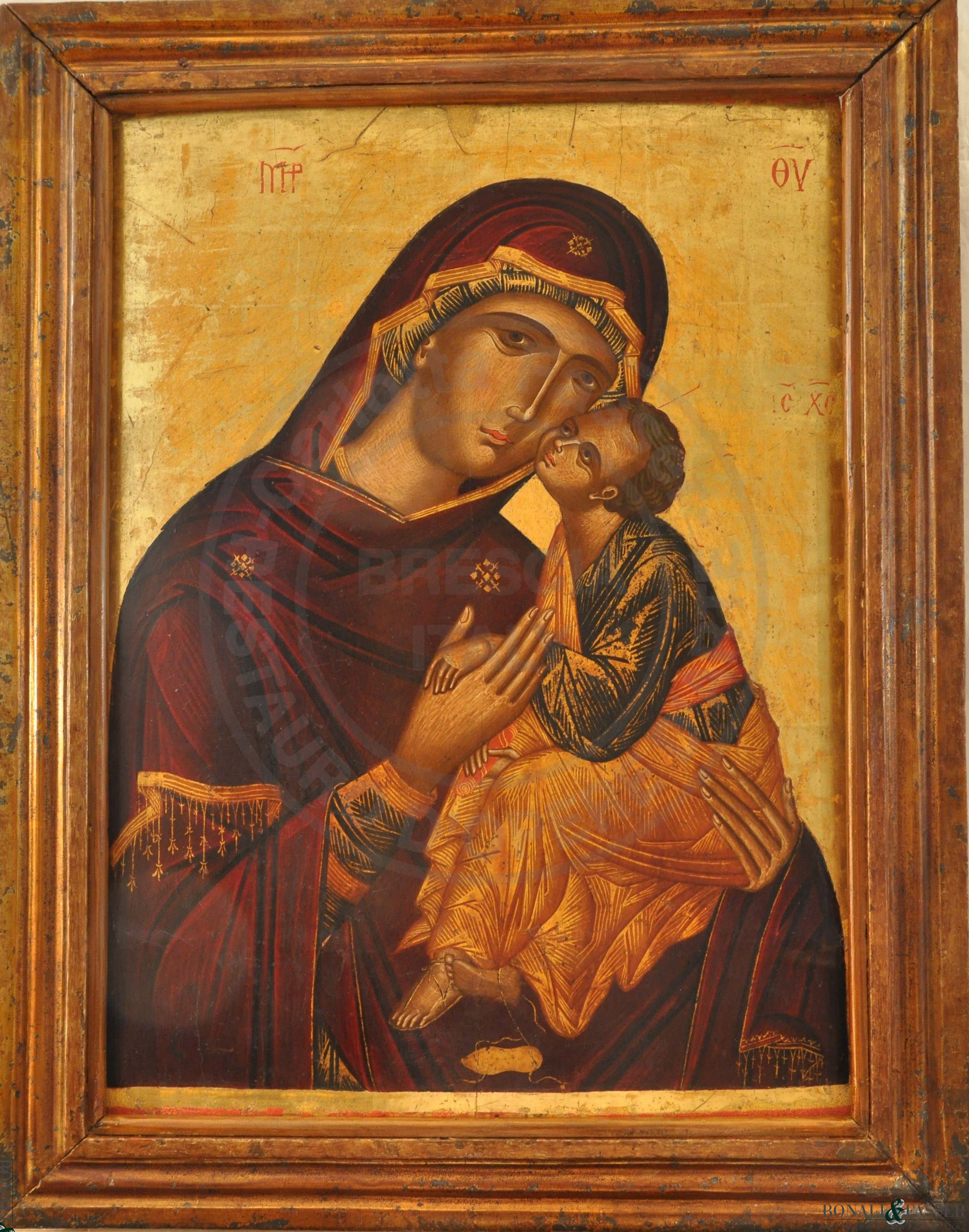 L'icona dopo l'intervento di restauro
