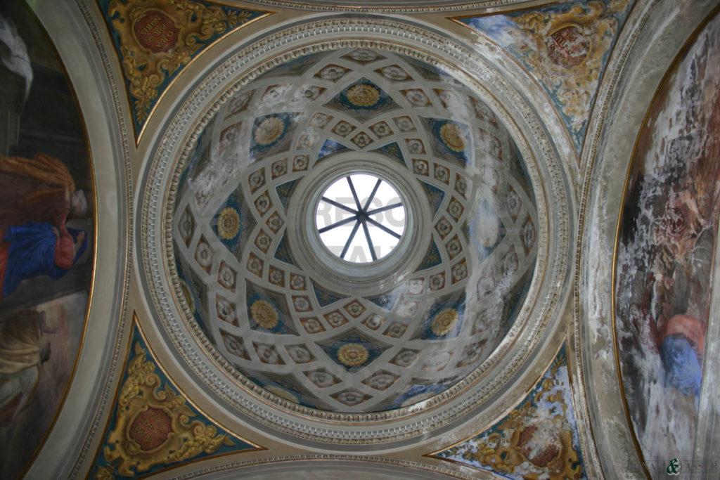 La cupola prima del restauro