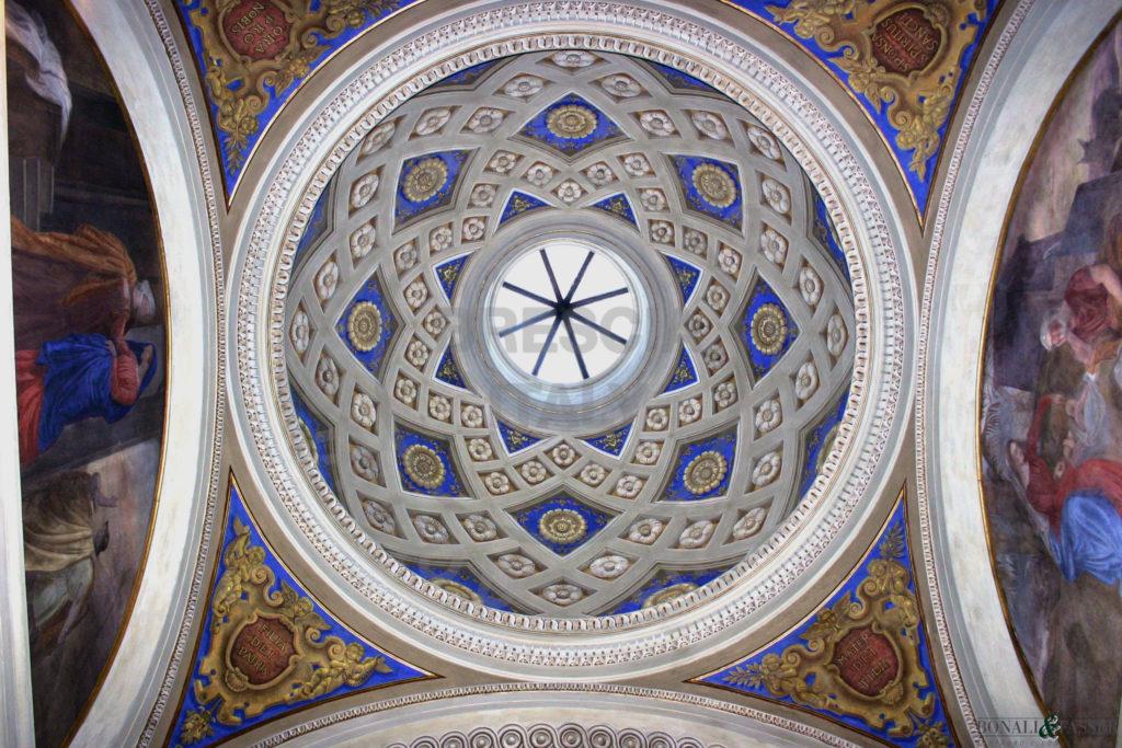 La cupola dopo l'intervento di restauro