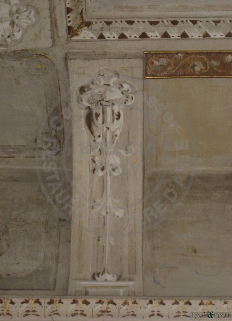 Dettaglio prima del restauro