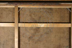 Dettaglio del telaio dopo l'intervento di restauro