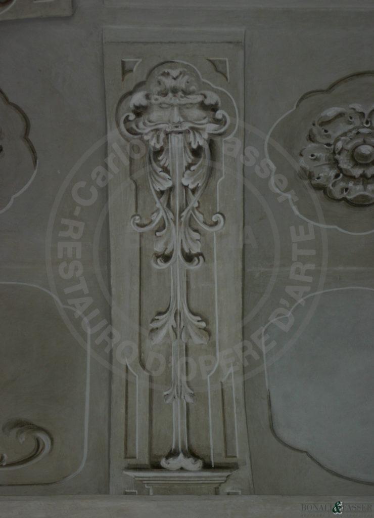 Dettaglio dopo l'interveto di restauro e decorazione