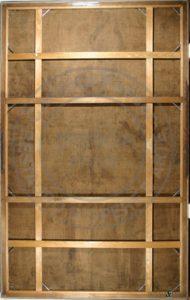Il verso dopo l'intervento di restauro col recupero del supporto originale e del telaio