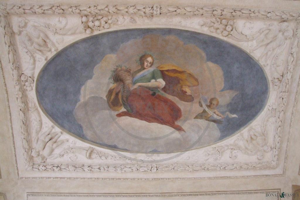 Palazzo Savoldo, dopo l'intervento di restauro con recupero dell'affresco seicentesco