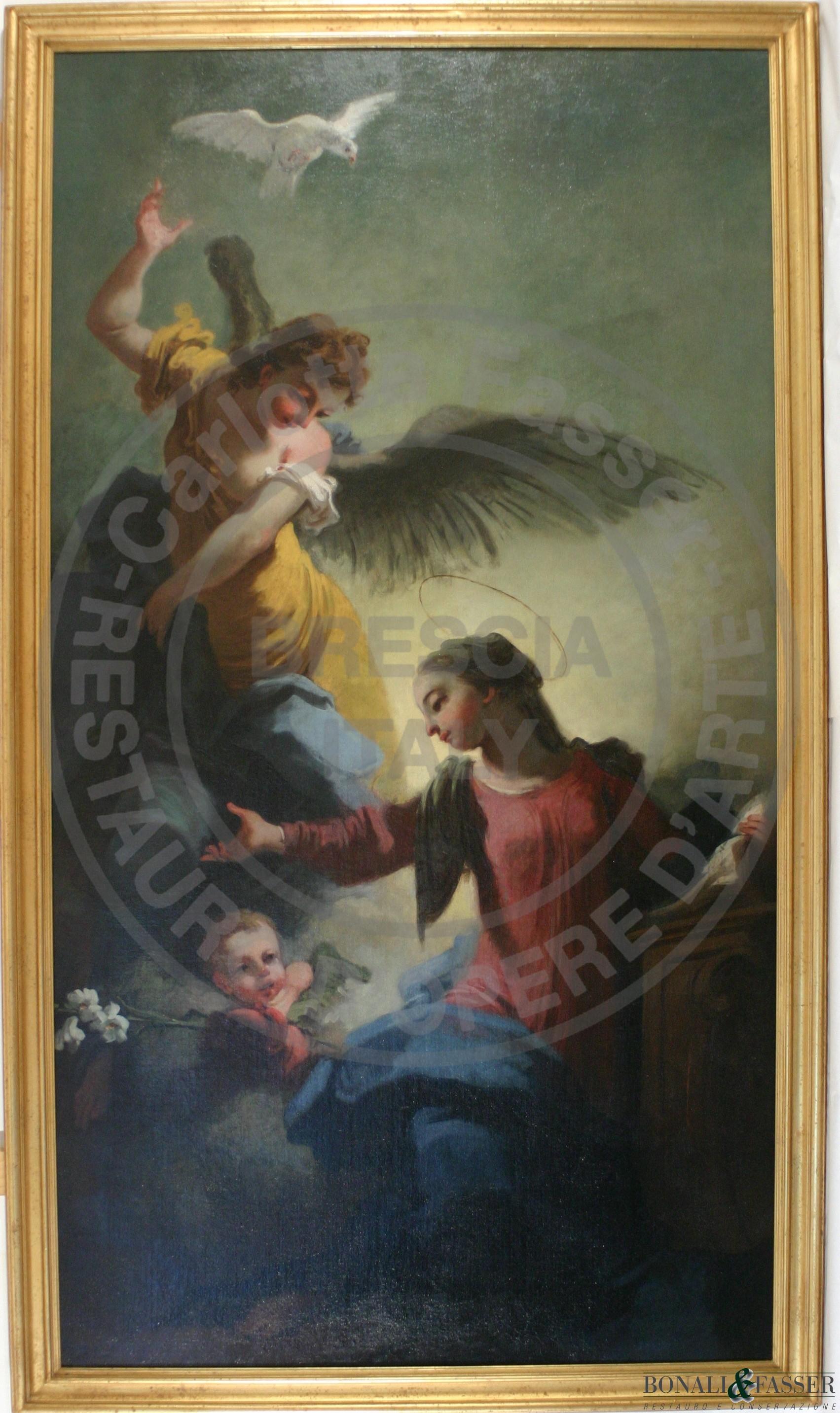Il dipinto dopo l'intervento di restauro