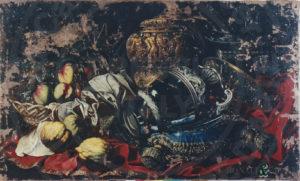 Il dipinto dopo l'intevento di pulitura e stuccatura degli strati pittorici