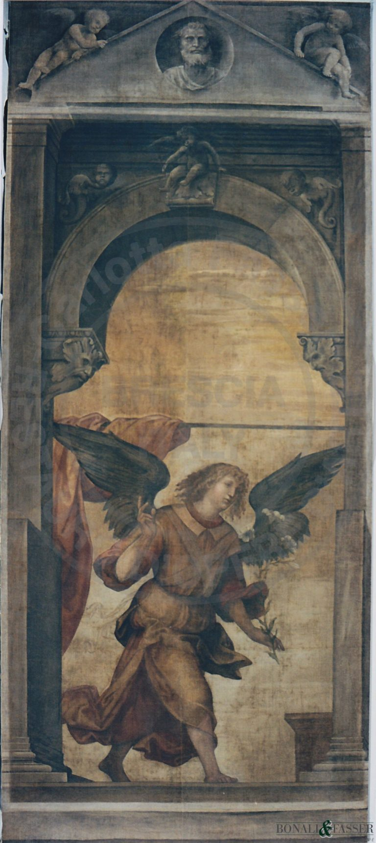 L'anta d'organo dopo il restauro