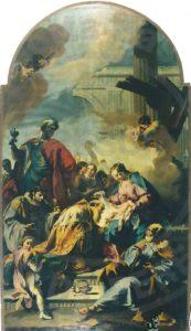 Il dipinto prima del restauro