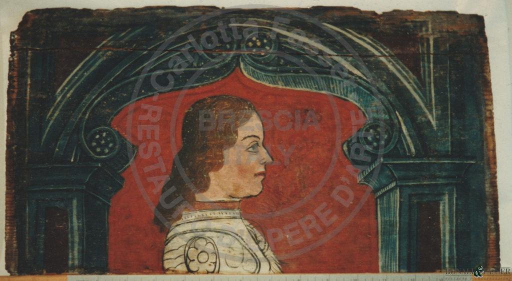 Dettaglio di una tavoletta dopo l'intervento di restauro