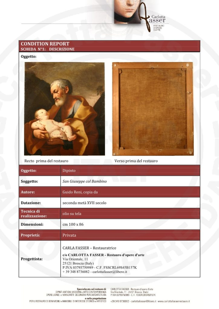 CONDITION REPORT San Giuseppe col Bambino