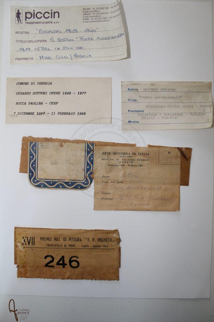 6 Etichette esposizioni